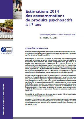 estimations 2014 des consommations de produits psychoactifs 17 ans note de synth se ofdt. Black Bedroom Furniture Sets. Home Design Ideas